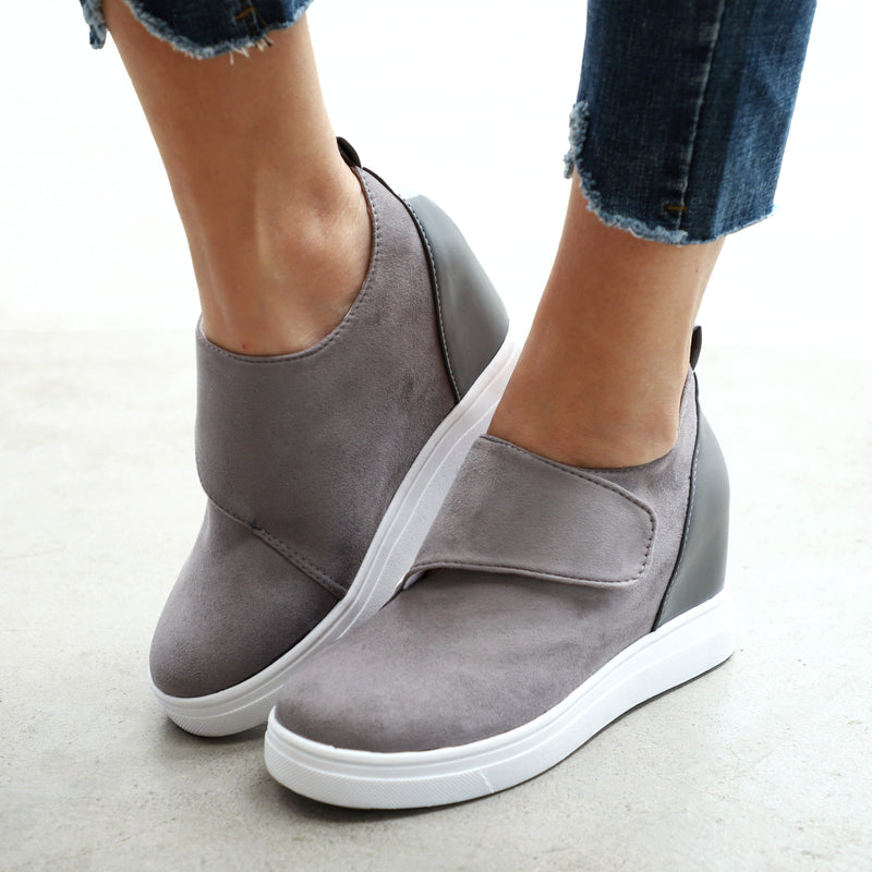 Casual Round Head Wedge Shoes