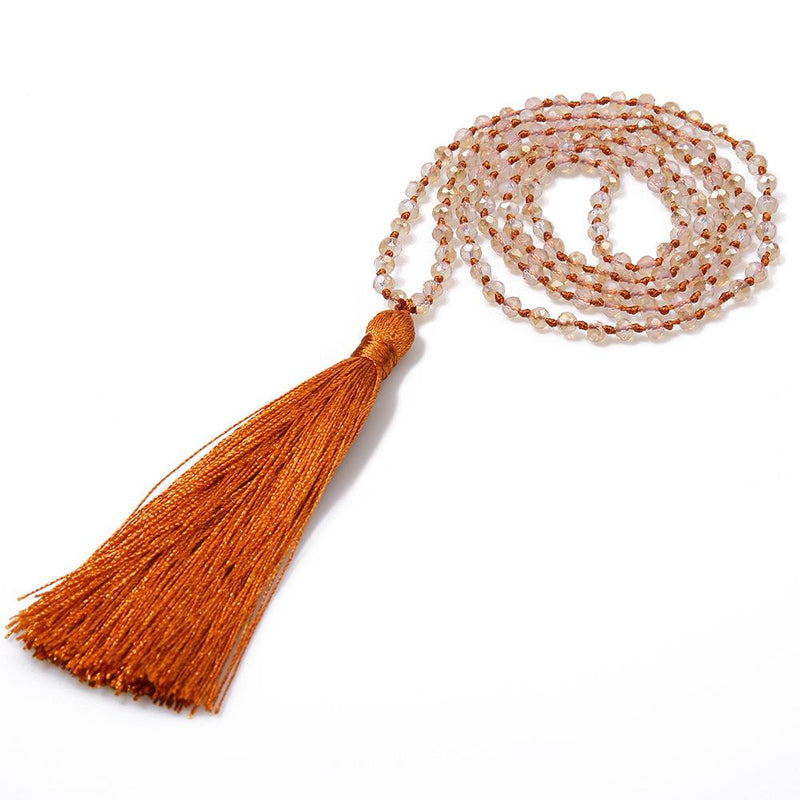Women Holiday Beaded Fringed All Season Necklace