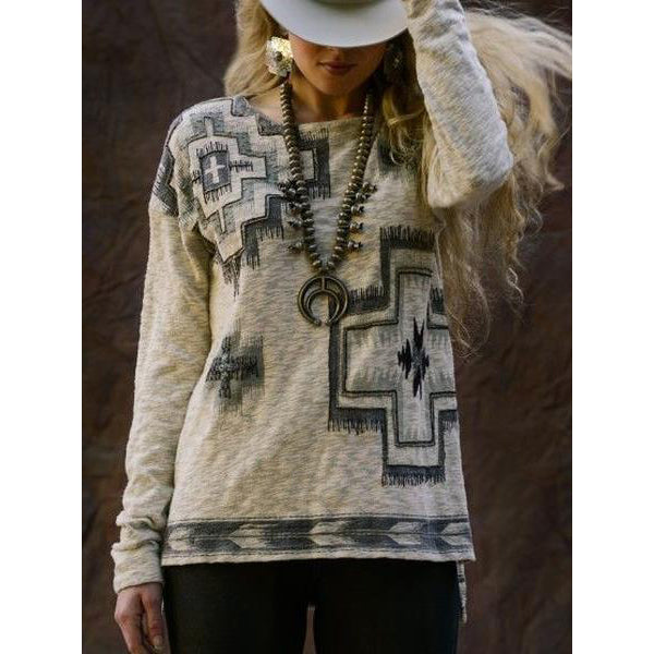Casual Long Sleeve Vintage Sweatershirts