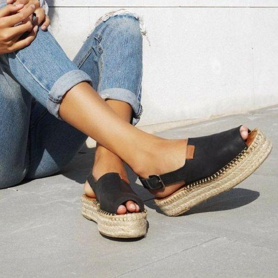 Casual Espadrille Slip-on Thick Bottom Sandal