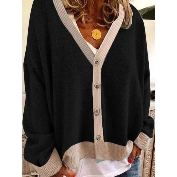Long Sleeve Buttoned Sweater