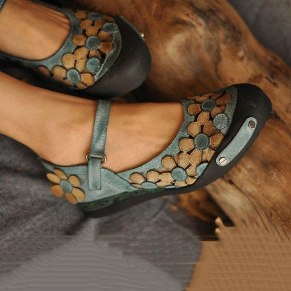 Vintage Daily Flat Heel Suede Flats