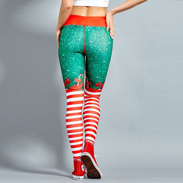Christmas Printed Slim Leggings Tight Pants