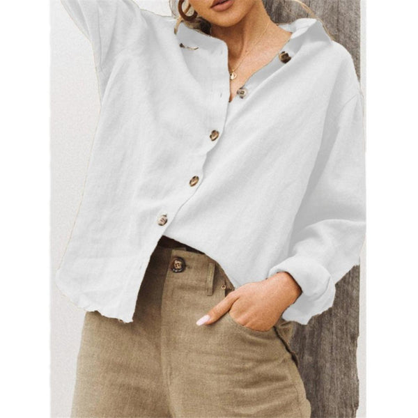 Casual Lapel Single-breasted Shirt