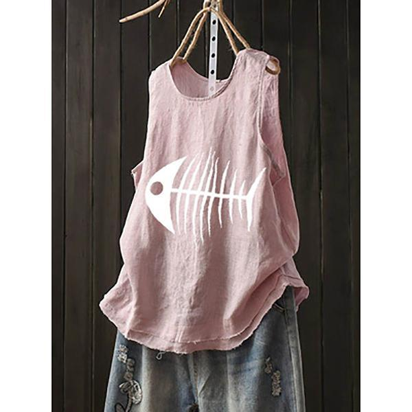 Summer Sleeveless  Printed T-Shirt