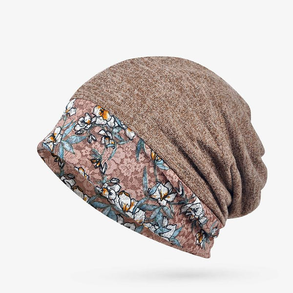 Vintage Floral Printed Tribal Women Caps