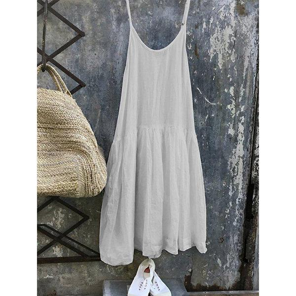 Casual Sleeveless Round Neck Large Size Dress