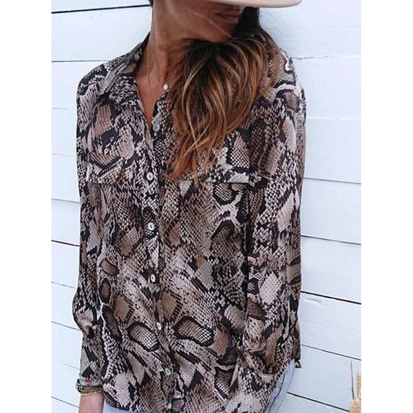 Fashion Leopard Printed Boho Blouse