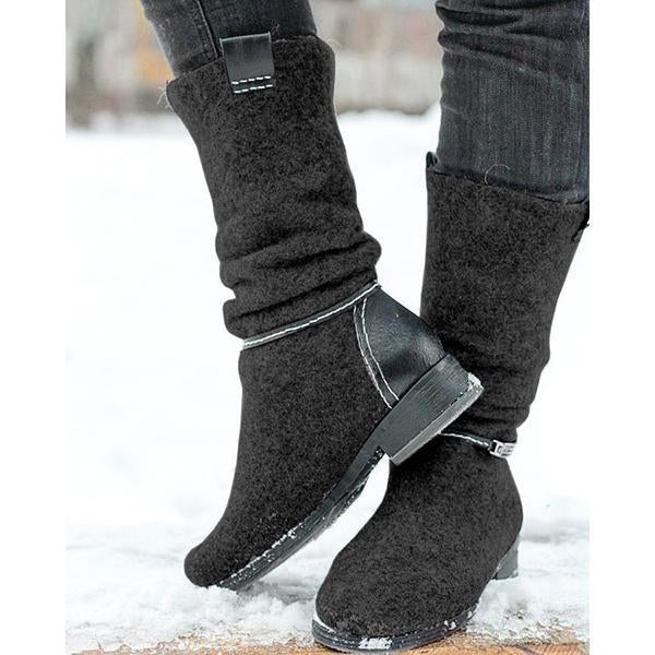 Women's Comfortable Flat Warm Snow Boots