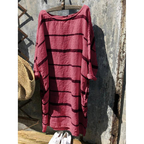 Summer Striped Pocket Comfort T-Shirt