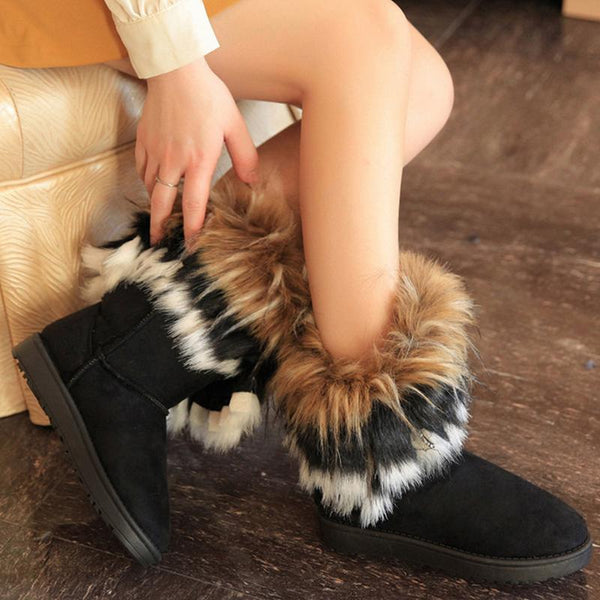 Winter Plush Solid Color Snow Boots
