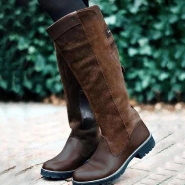 Women Fashion Vintage Leather Long Boots