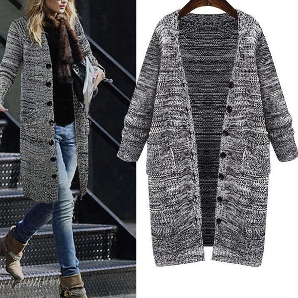 Knitted V-Neck Long Sleeve Cardigans Outwear