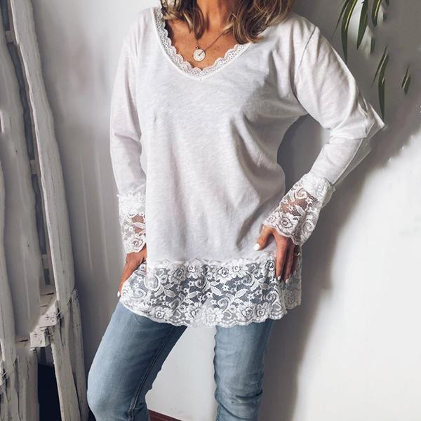 Casual Women Long Sleeve Daily Blouses