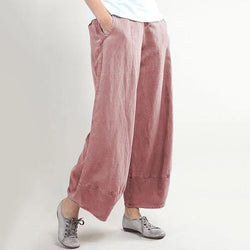 Solid Color Loose Casual Pants