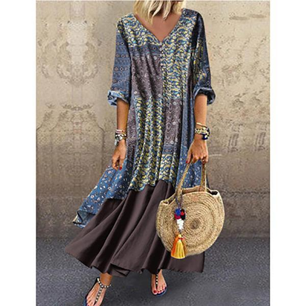 Fashion Loose Printed Dresses