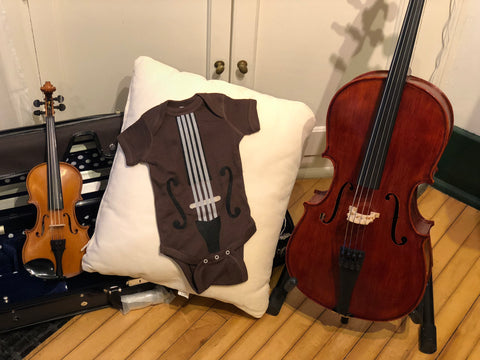 Baby Onesie violin cello