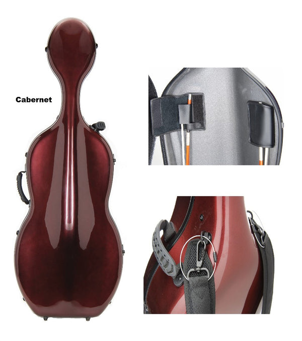 Carbon Fiber Cello Case - FEATHERWEIGHT!