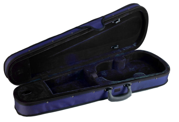 Shaped violin case open