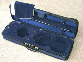 Oblong viola case open