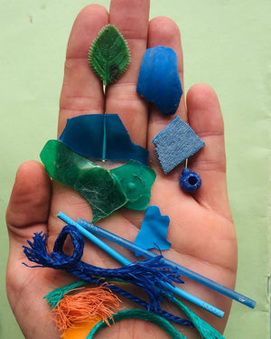 Beach Clean Resin Necklace - Blues