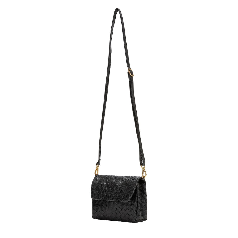 Vegan Handbag - Small Terme Intrecciato - Black