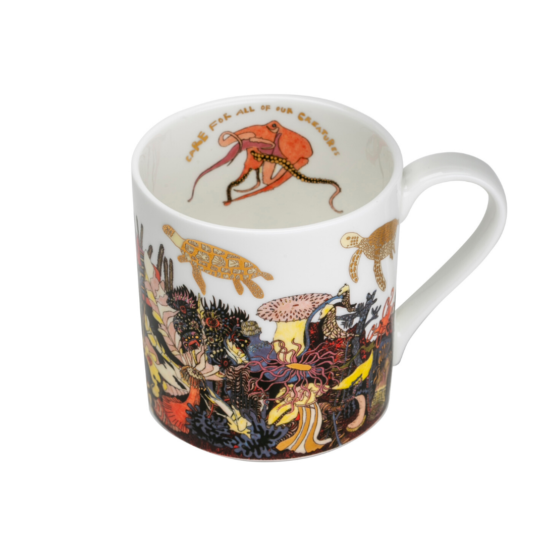 'Angles of the Deep' Fine Bone China Mug