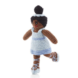 Hand-Knitted Ballerina Rattle