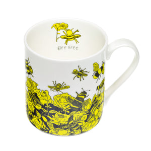 'Bee Free' Fine Bone China Mug