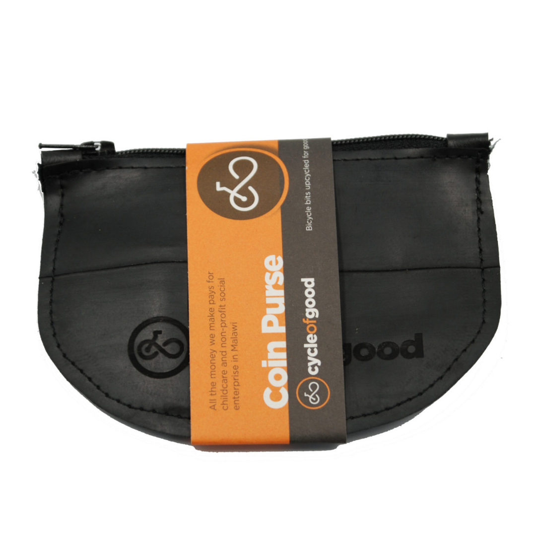 Recycled Bike Inner Tube Coin Purse
