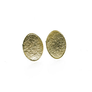 Geometric Brass Disc Stud