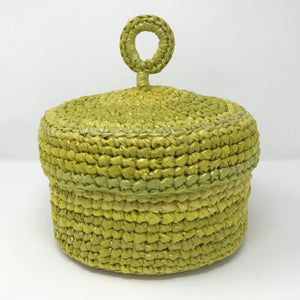 Up-Cycled Hat Box Basket - Sun