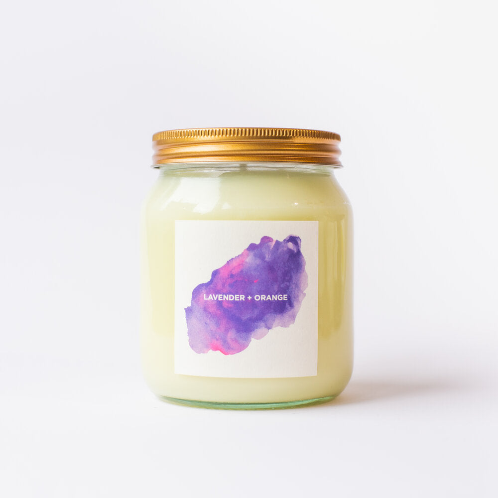 Lavender & Orange Natural Soy Candle