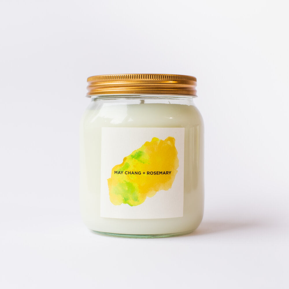 May Chang & Rosemary Natural Soy Candle
