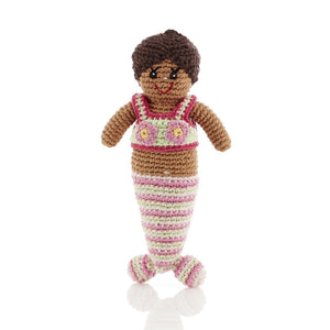 Hand-Knitted Mermaid Rattle