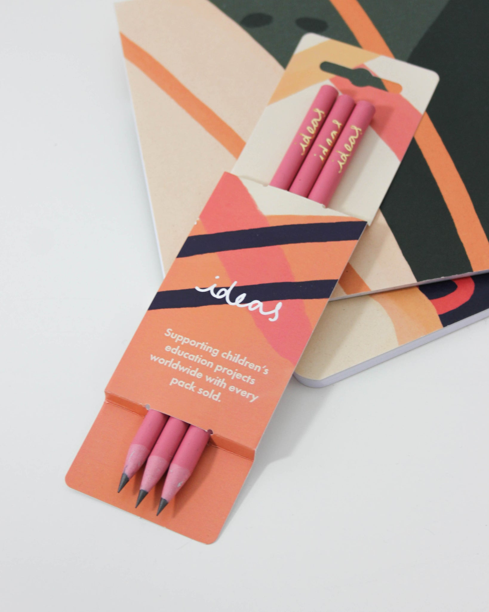 Recycled CD Case Pencils - Pink