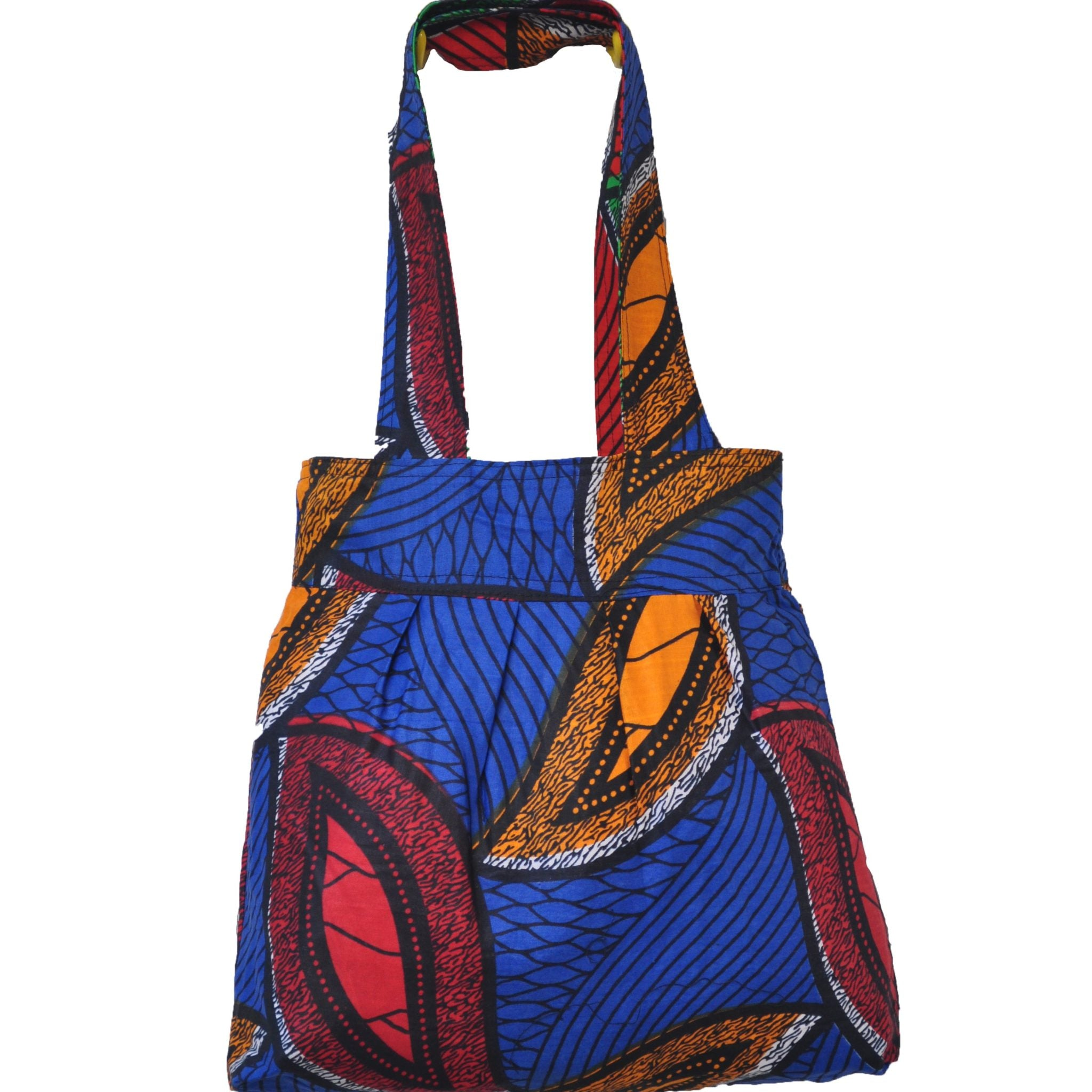 Handmade Reversible Tote Bag - Leaf Print