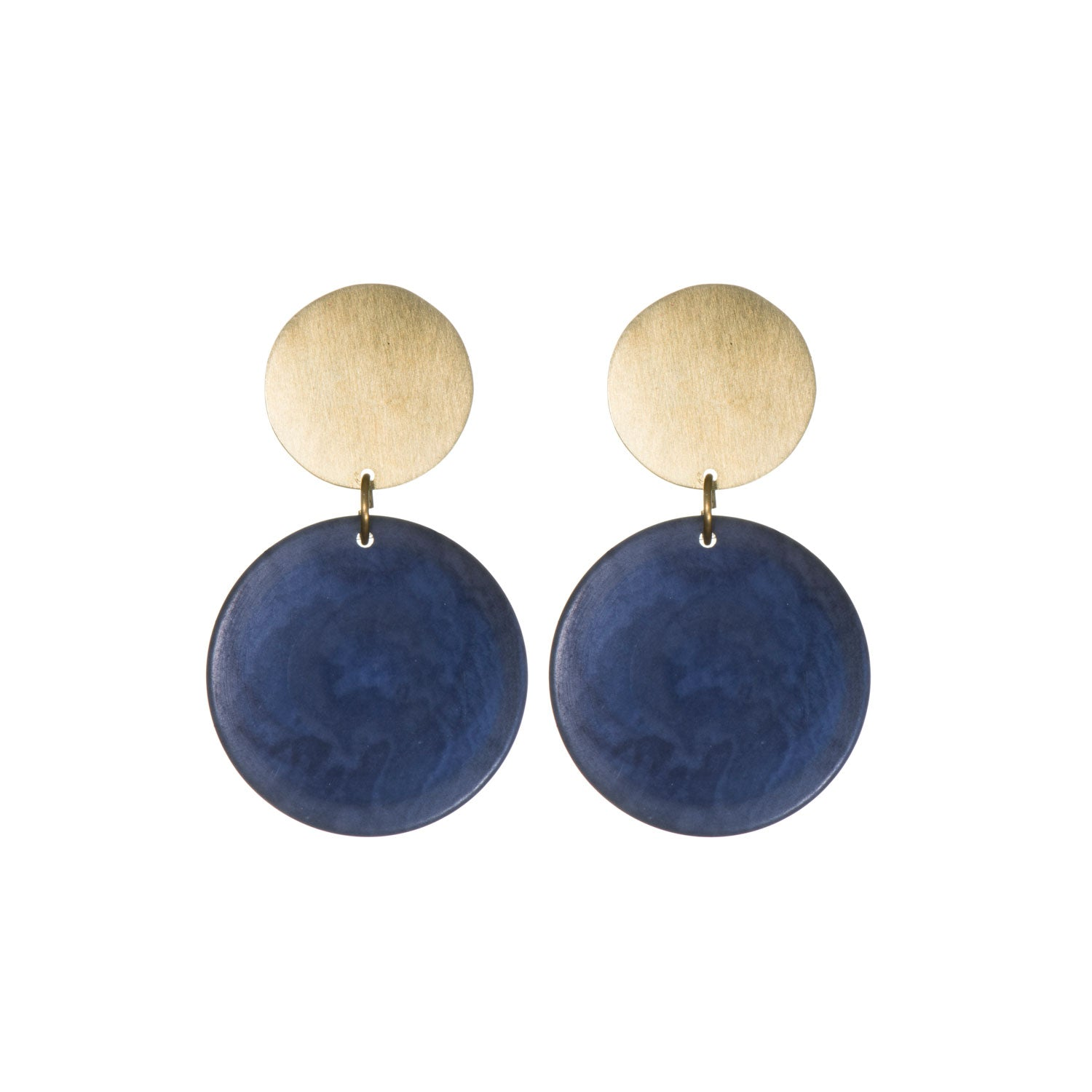 Tagua 'Rachel' Double Disk Circle Studs
