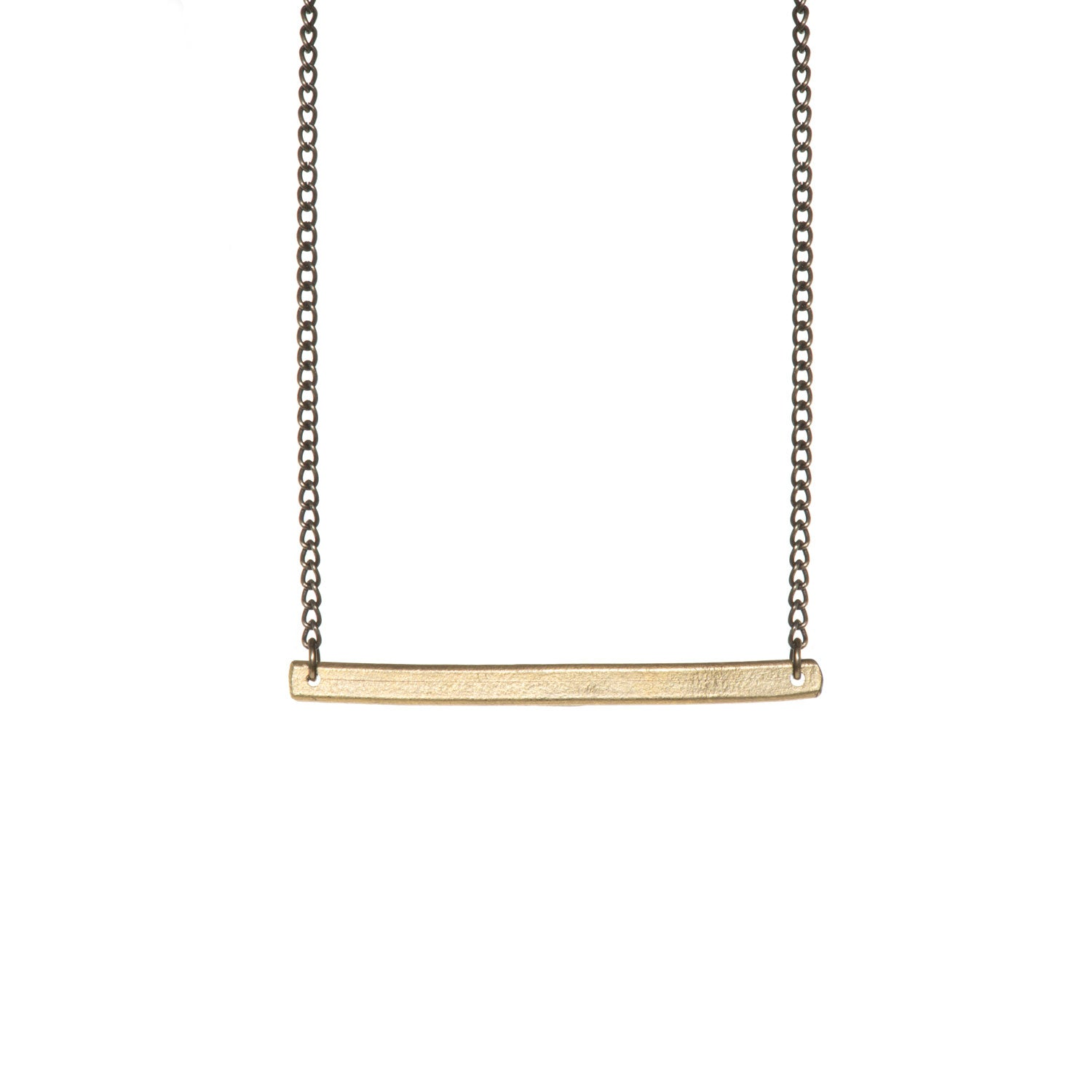 Ruthi Brass Bar Necklace