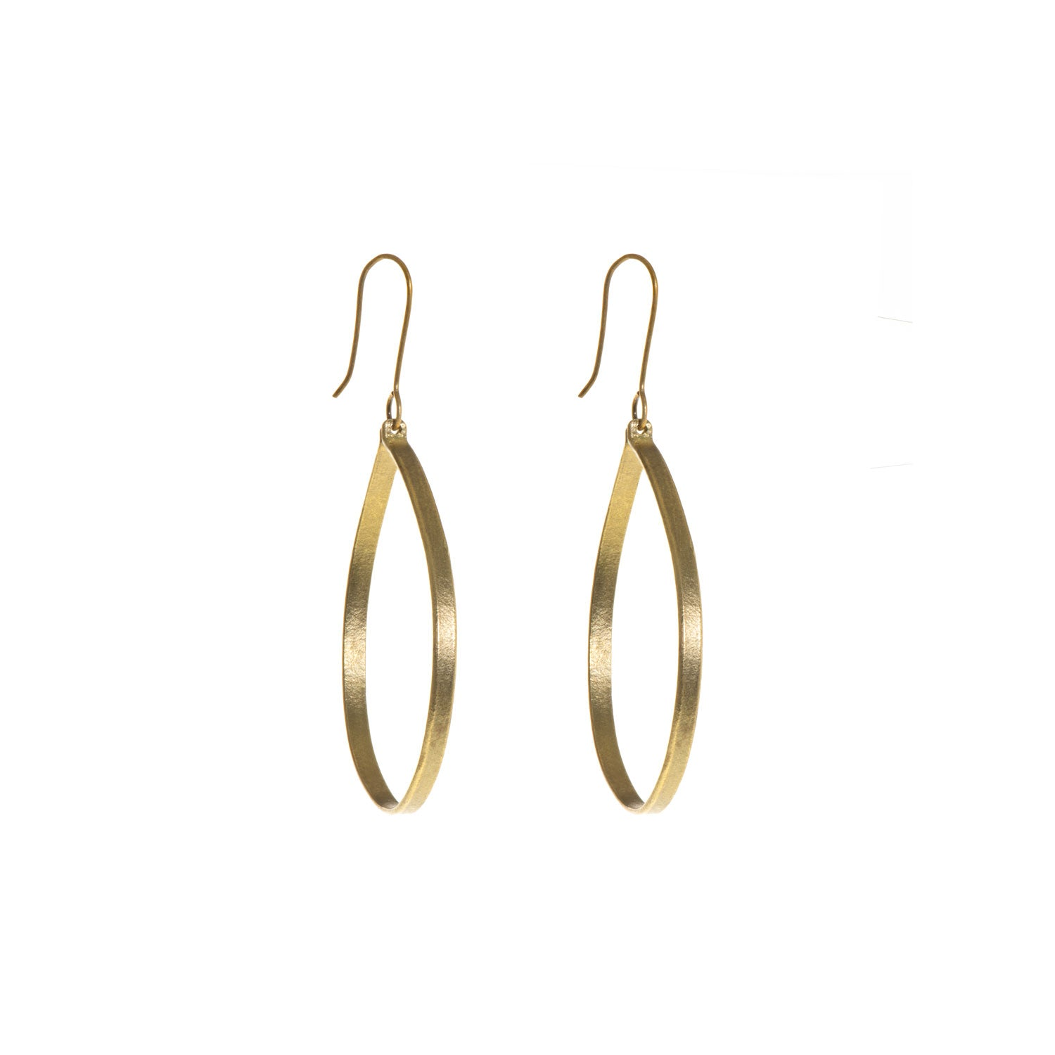 Ruthi Brass Large Round Earrings