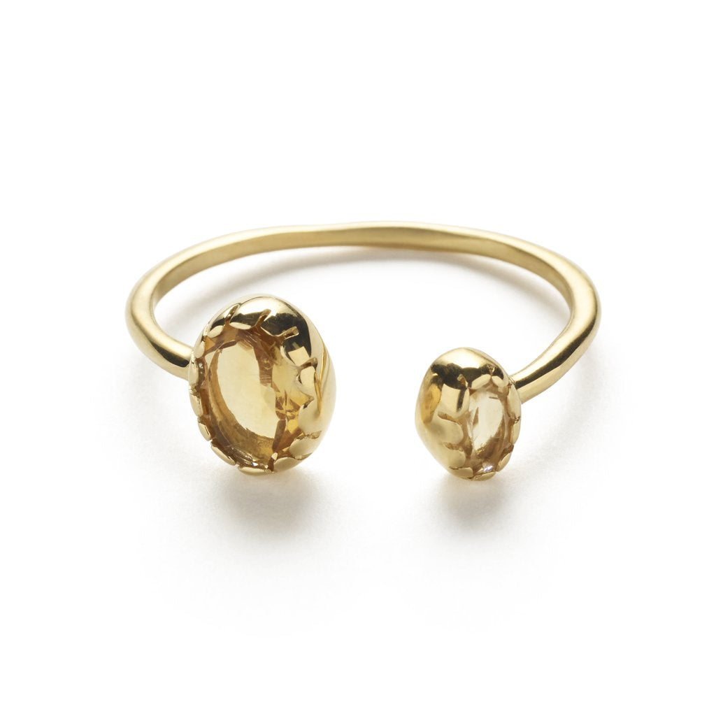 Gold & Citrine 'Eka' Ring
