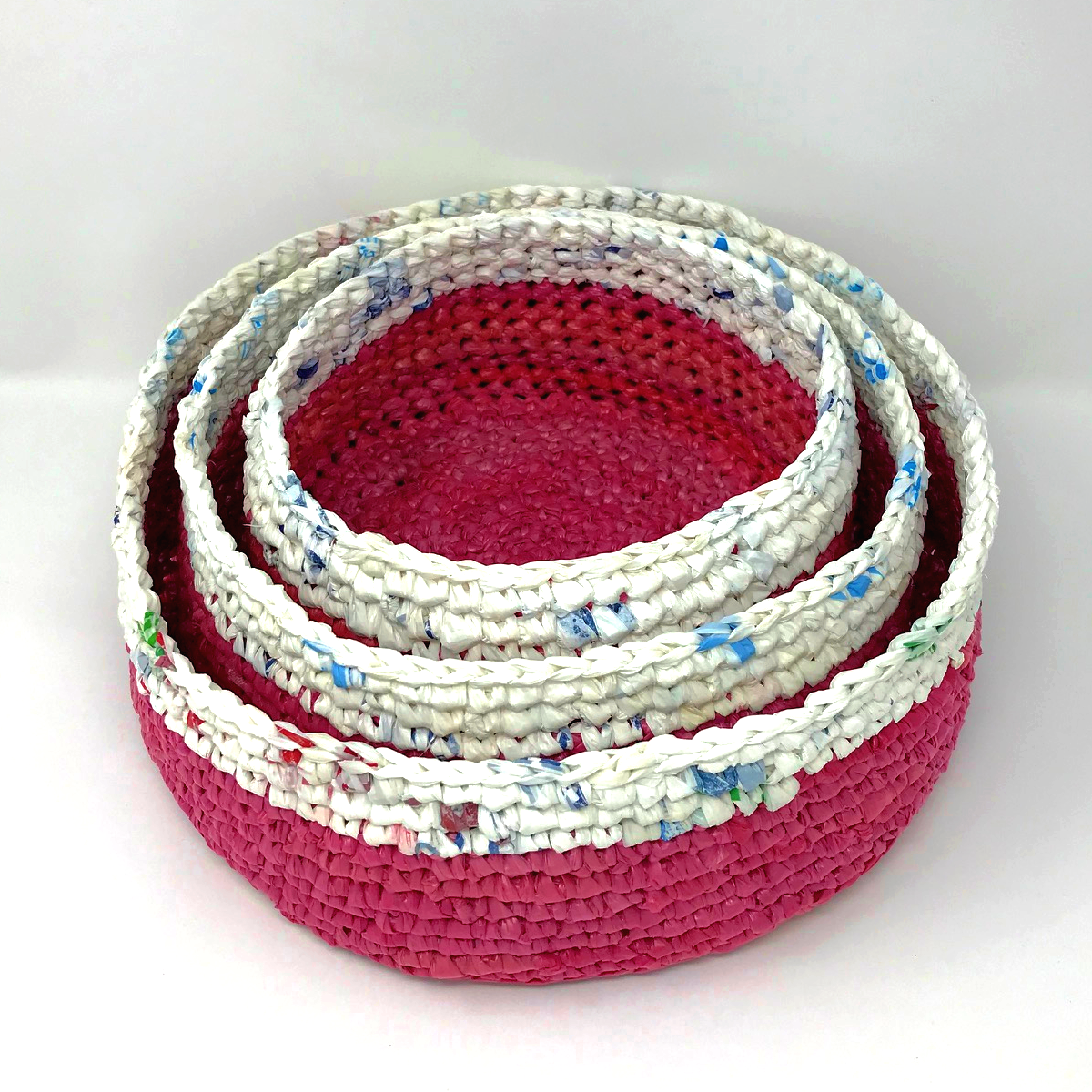 Up-Cycled Stacking Basket Set - Lotus & Rice