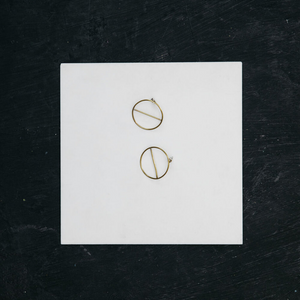 Handmade Brass 'Circle' Stud
