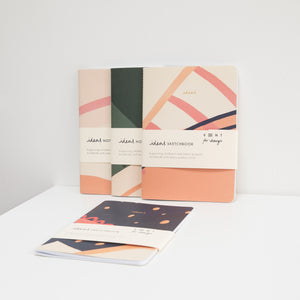 Recycled Soft Cover A5 Notebook – Ideas Cream