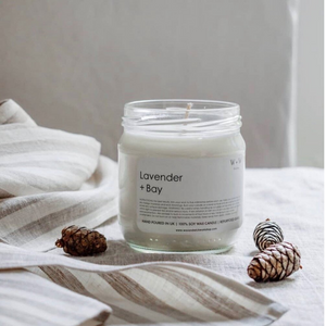 Recycled Glass Soy Candle - Lavender & Bay