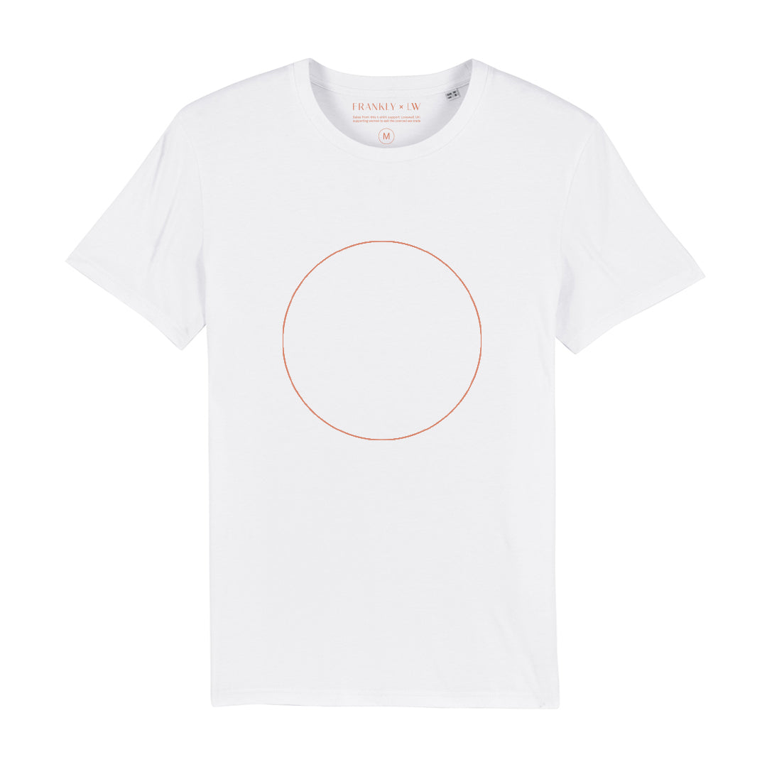 Frankly x LW Circle Tee - White & Rust
