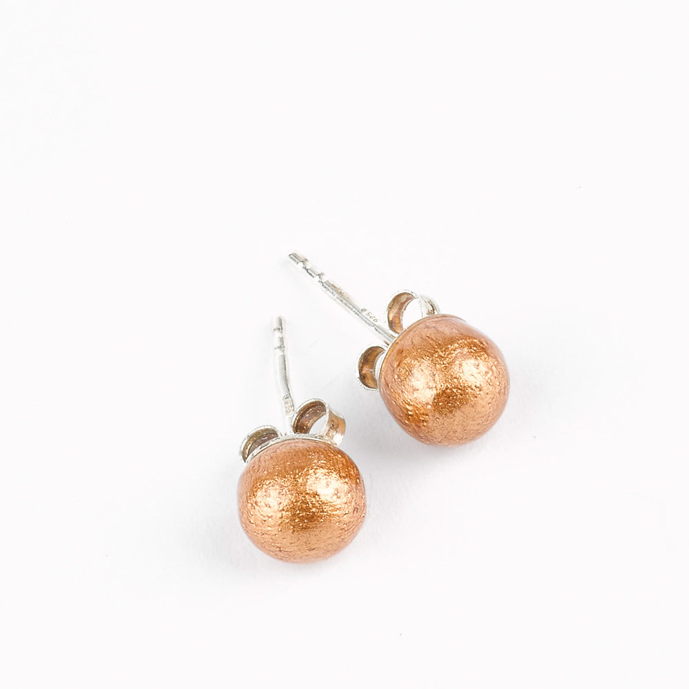 Handmade Mango Wood Ball Studs