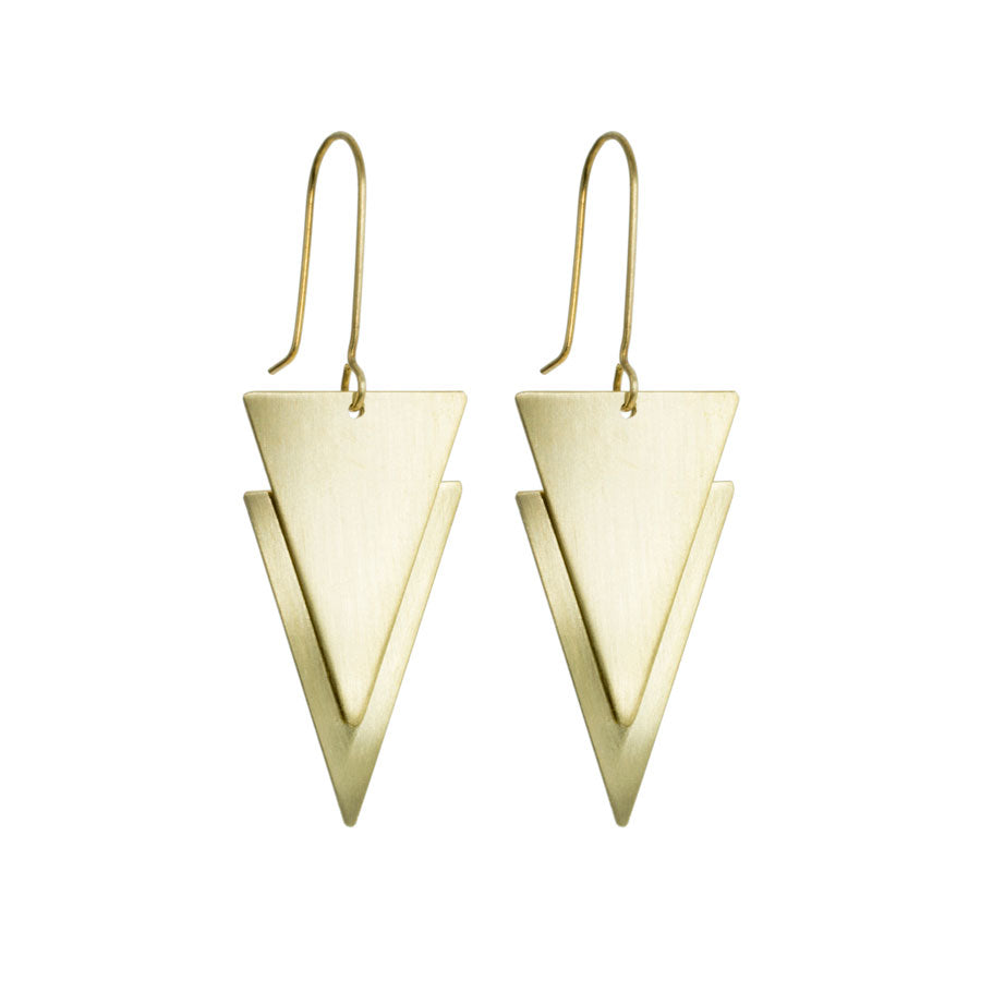 Brass 'Lucie' Earrings