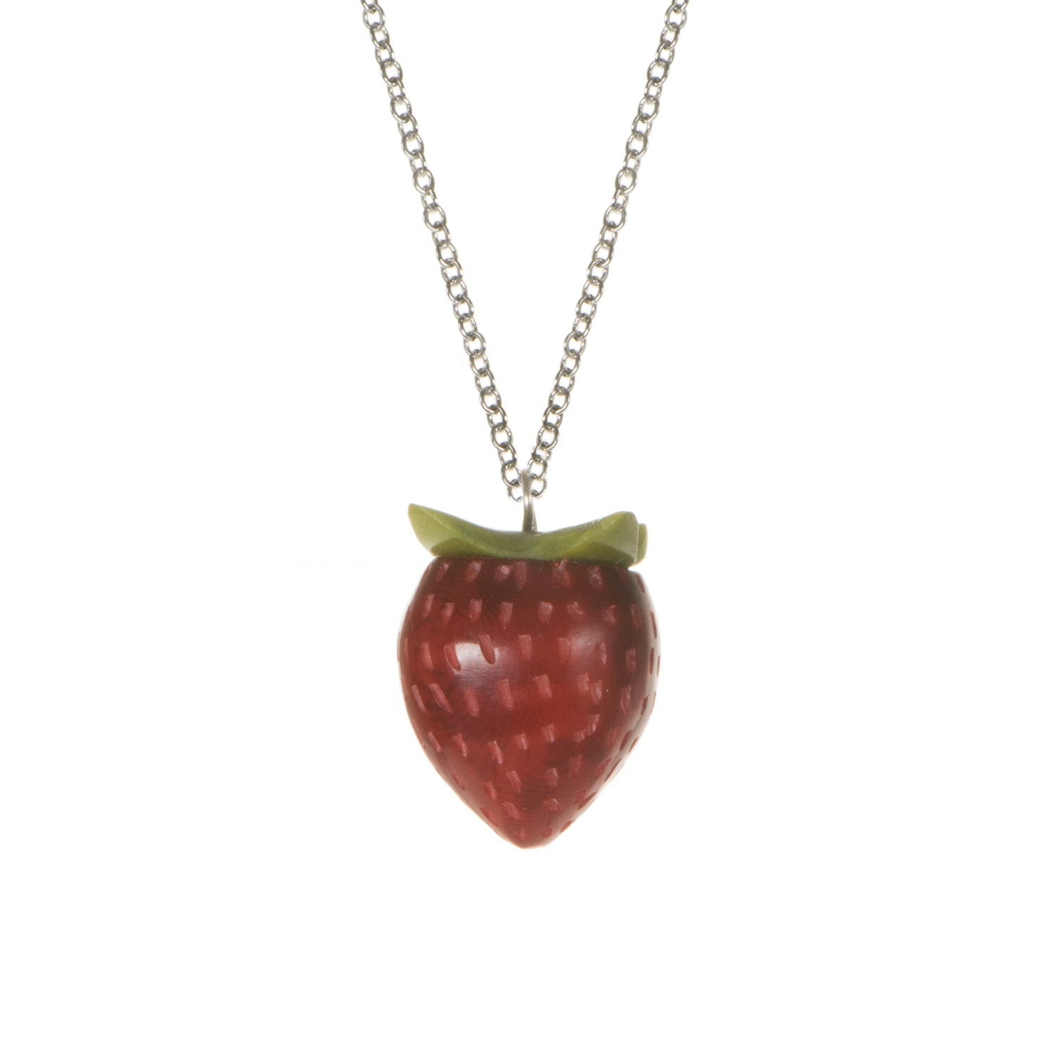 Tagua Strawberry Pendant