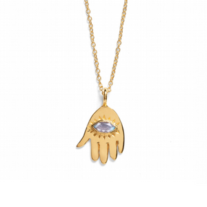 Gold 'Asha' Hamsa Necklace
